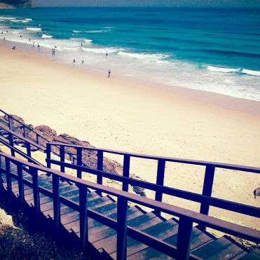 Stairs down to Salema beach
