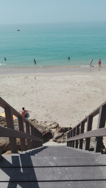 Stairs leading down to Salema beach