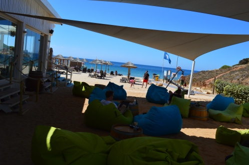 Cabanas Velhas beach bean bag area