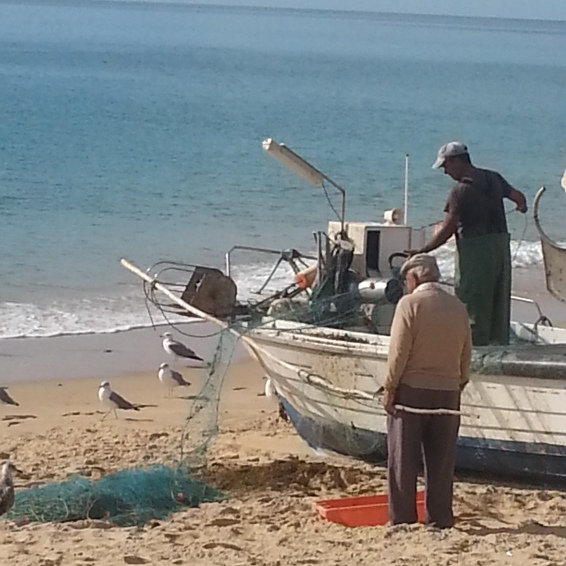 Fishermen in Salema